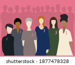 world cancer day. people... | Shutterstock .eps vector #1877478328