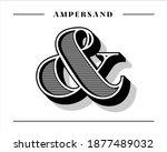 custom decorative ampersand...   Shutterstock .eps vector #1877489032