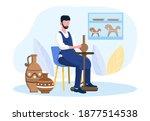 professional male potter master ... | Shutterstock .eps vector #1877514538