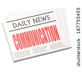 newspaper communication | Shutterstock . vector #187755455