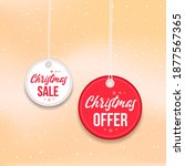 christmas offer and sale badges ... | Shutterstock .eps vector #1877567365