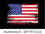 grunge usa flag on black...   Shutterstock .eps vector #1877571112