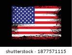 grunge usa flag on black...   Shutterstock .eps vector #1877571115