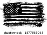 usa flag   distressed american... | Shutterstock .eps vector #1877585065