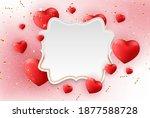 valentine's day background... | Shutterstock .eps vector #1877588728