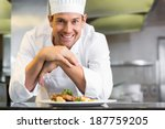 portrait of a smiling male chef ... | Shutterstock . vector #187759205