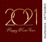 greeting card of new year 2021  ... | Shutterstock .eps vector #1877623825