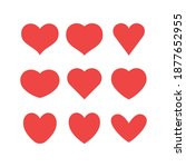 heart icons collection. vector... | Shutterstock .eps vector #1877652955