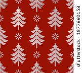 winter traditional knitted... | Shutterstock .eps vector #1877660158