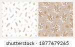 set of two seamless patterns... | Shutterstock .eps vector #1877679265