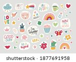 stickers flat vector... | Shutterstock .eps vector #1877691958