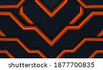 abstract 3d black technology...   Shutterstock .eps vector #1877700835