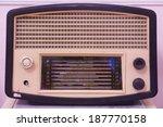 radio vintage in museum  | Shutterstock . vector #187770158