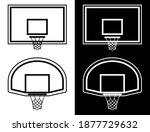Basketball Backboard Icon With...