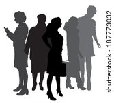 vector silhouette of...   Shutterstock .eps vector #187773032
