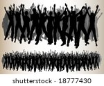 dancing audiences | Shutterstock .eps vector #18777430