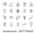 witchcraft outline icon... | Shutterstock .eps vector #1877750665