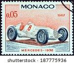 monaco   circa 1967  a stamp... | Shutterstock . vector #187775936