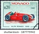 monaco   circa 1967  a stamp... | Shutterstock . vector #187775942