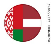 round icon with belarus and... | Shutterstock .eps vector #1877770942