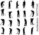 vector silhouette of a man with ...