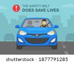 driving a car. the safety belt... | Shutterstock .eps vector #1877791285