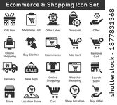 ecommerce and shopping icon set ... | Shutterstock .eps vector #1877831368