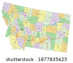 montana   highly detailed... | Shutterstock .eps vector #1877835625