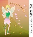 little blond fairy illustration | Shutterstock .eps vector #187791362