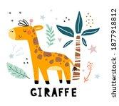 Funny Cute Scandinavian Giraffe ...