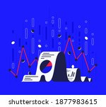 financial analysis report with... | Shutterstock .eps vector #1877983615