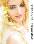 spring portrait of a beautiful...   Shutterstock . vector #187799816