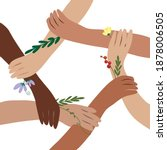 united community. hands of... | Shutterstock .eps vector #1878006505