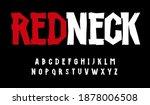 red neck wooden font  rustic... | Shutterstock .eps vector #1878006508