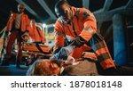 Team Of Ems Paramedics Provide...