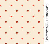 seamless pattern with small... | Shutterstock .eps vector #1878029398