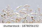 seamless horizontal border with ... | Shutterstock .eps vector #1878056152