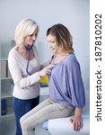 auscultation  woman | Shutterstock . vector #187810202