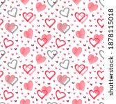 seamless pattern for valentine... | Shutterstock . vector #1878115018