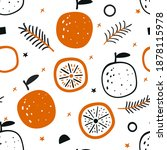 tropical seamless pattern with... | Shutterstock .eps vector #1878115978