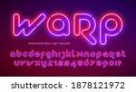 neon light alphabet  extra... | Shutterstock .eps vector #1878121972