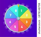 realistic 3d spinning fortune...   Shutterstock .eps vector #1878148708