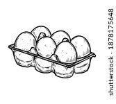 illustration of box with eggs... | Shutterstock .eps vector #1878175648