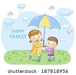 illustration of boy and girl in ... | Shutterstock . vector #187818956