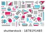 memphis design elements. retro...   Shutterstock .eps vector #1878191485