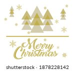 new year card on a white... | Shutterstock .eps vector #1878228142