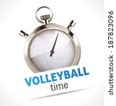 stopwatch   sport volleyball   Shutterstock .eps vector #187823096