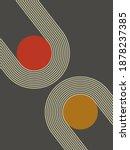 art print trendy minimalist... | Shutterstock .eps vector #1878237385