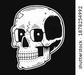 Funny Skull. Modern Logo. Retro ...