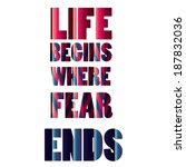 Life Quote Vector Illustration